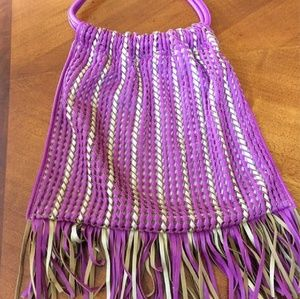 Purple Fringe Purse